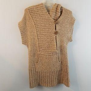 Free People Short Sleeve Hoodie Sweater Tunic S